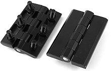 2X Black Metal Folding Furniture Cupboard Cabinet