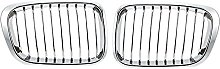 2X Chrome Front Hood Kidney Grille Grill ,for