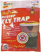 2X FLY BAG TRAP RED TOP CATCHER KILLS 20,000 FLIES