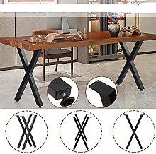 2X Industrial Steel Table Legs Black Metal Iron