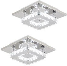 2x K9 Crystal Chandelier Clear Glass Ceiling Lamp
