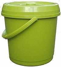 2X Lime Green Handled 14Lt Plastic Garden Storage