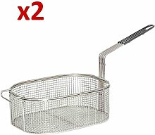 2X Oval Frying Basket for LINCAT J6/9/12/18