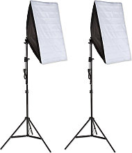 2x Photography lighting + softbox model 1 - black