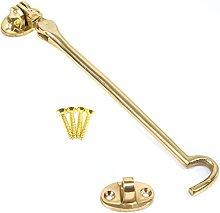 2X Polished Brass 200mm Silent Cabin Hooks -