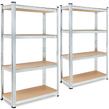 2x Shelves Shelving Units Storage Unit Garage