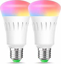 2x Smart WiFi Light Bulbs, E27 Smart Bulb, LOHAS