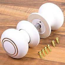 2X White & Gold Ceramic Interior Door Knobs -