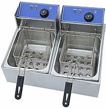 2X10L Electric Deep Fryer Double Tank Frying