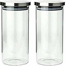 2X1340ML Glass Airtight Storage Jar, Kitchen Food