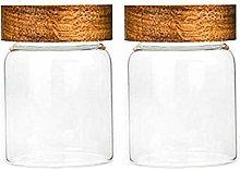 2X300ML Glass Airtight Storage Jar, Kitchen Food