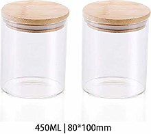 2x450ML Glass Airtight Storage Jar, Kitchen Food