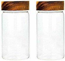 2X550ML Glass Airtight Storage Jar, Kitchen Food