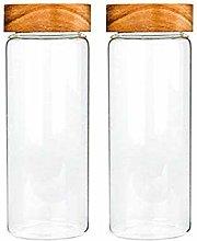 2X750ML Glass Airtight Storage Jar, Kitchen Food