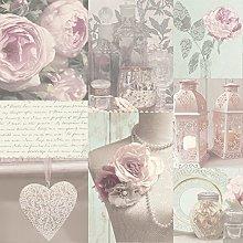 2XCharlotte Blush Wallpaper, Pink,