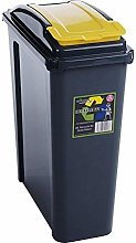 2XPlastic Indoor Recycle Recycling Waste Bin with