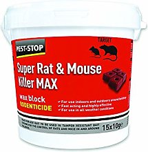 2XSuper Rat and Mouse Killer Wax Blocks, 15 x 10g