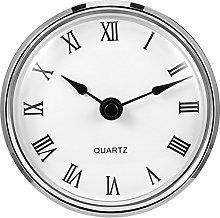 3-1/8 Inch (80 mm) Quartz Clock Fit-up/Insert with