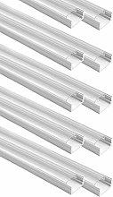 3.3Ft/1M Clear Cover U Shape Aluminum Channel,