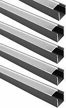 3.3Ft/1M Clear Cover U Shape Wide Aluminum