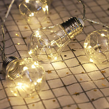 3.3ft LED String Lights with 10 Bulbs Warm White