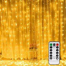 3 * 3M 300 LED String Lights Warm White Curtain 8