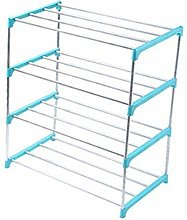 3/4 Layers Stainless Steel Shoes Storage Rack Shoe