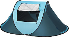 3-4 Man Waterproof Pop Up Automatic Tent Family