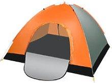 3-4 Person Camping Tent Orange Automatic Portable
