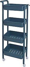 3/4 Tier Rolling Kitchen Rack, Layered Shelf