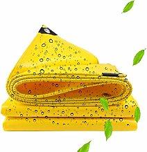3×4m Yellow Waterproof Tarp for Camping Garden