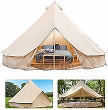 3-6 Meter Bell Tent Camping 4-Season Waterproof