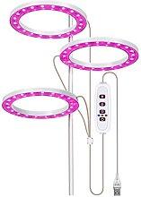 3 Angel Rings LED Grow Lamp DC5V USB Phytolamp