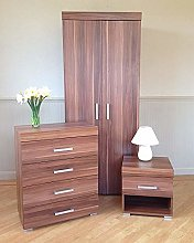 3 Bedroom Furniture Suite Wardrobe, 4 Drawer