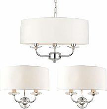 3 Bulb/Arm Ceiling Pendant & 2X Twin Wall Light