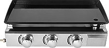3 Burners Griddle Grill Stainless Steel Outdoor