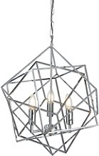 3 Candle Light Geometric Chandelier - Searchlight