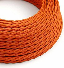 3 Core Twisted Silk Braided Vintage Fabric Orange