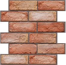 3 Dimension Red Brick Water-resistant