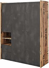 3 Door Wardrobe FARGO 01 in Canyon Alpine Spruce