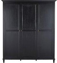 3-door wardrobe in black