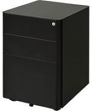 3 Draw Metal Filing Cabinet Lockable 4 Wheels