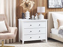 3- Drawer Sideboard White Cabinet Chest of Drawers