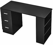 3 Drawers Computer Desk With 3 Bookshelves Laptop