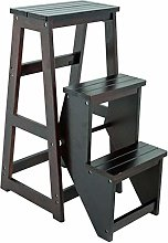 3 Floors Step Stool Collapsible Solid Wood Climb