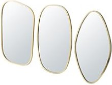 3 Gold Metal Mirrors