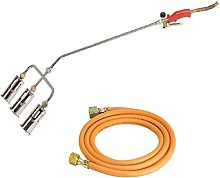 3 Head Propane Butane Torch With Hose, 600mm