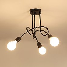 3 Heads Vintage Ceiling Light Industrial