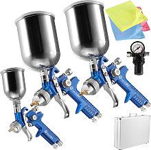 3 HVLP paint spray guns (0.8 + 1.3 + 1.7 mm) +
