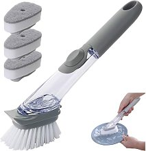 3 In 1 Cleaning Brush With Detergent Dispenser